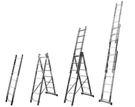 купить лестницу алюминиевую трехсекционную